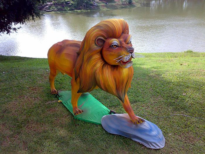 狮子车手工制作图片